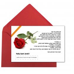 """Postal Sant Jordi """"Amor particular"""""""