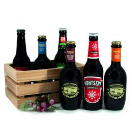 Caixó amb cerveses artesanes