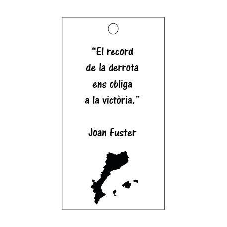 Targeta Joan Fuster